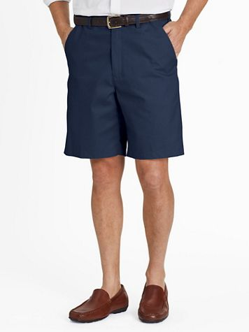 John Blair Adjust-A-Band Relaxed-Fit Plain-Front Shorts - Image 1 of 7