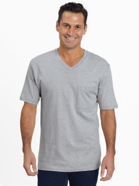 Everyday Jersey Knit V-Neck Pocket Tee Shirt
