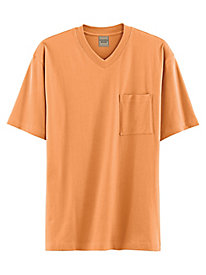 Scandia Woods V-Neck Jersey Knit Pocket Tee