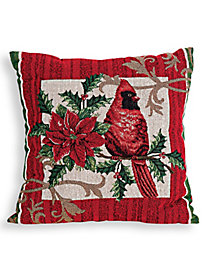 Square Holiday Tapestry Pillow
