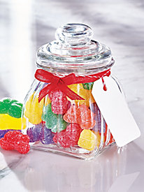 Glass Jar with Fruit Slices