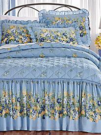Monet Garden Quilt-Top Bedspread by Blair