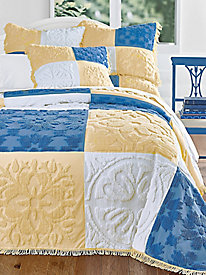 Hudson Square Patchwork Chenille Bedspread