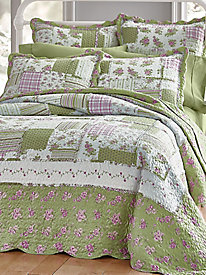 Elsie Ragged Quilted Bedspread and Coordinates