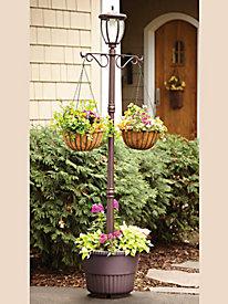 Mcleland Kenwick Solar Lamp Post Planter by Blair