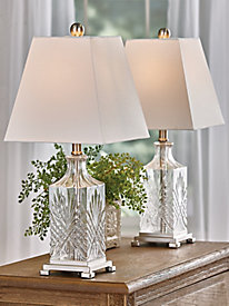 Crystal Look Lamp Pair