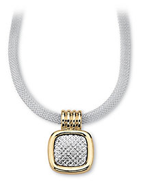 Mesh Pendant Necklace