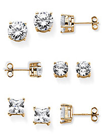 14K Stud Earring Set