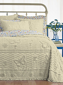 Butterfly Chenille Bedspread and Pillowsham