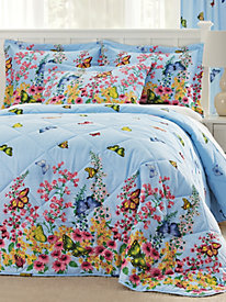 Butterfly Garden Bedspread and Coordinates