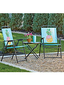 3-Pc. Outdoor Table and Chair Set by Blair