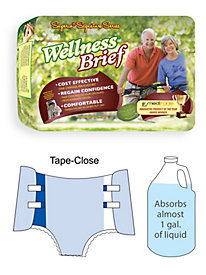 Super-Absorbent Tape-Close Wellness Brief by Blair