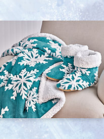 Snowflake Throw and Bootie Set by Blair