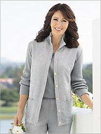Microsuede Sweater Jacket