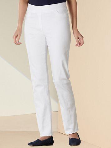 Slimtacular® Straight Leg Pull-On Denim Jeans