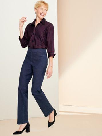 Essential Jewel Neck Tee & Slimtacular® Denim Pull-On Jeans