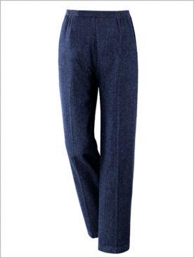 Cotton Straight Leg Pull-On Denim Jeans