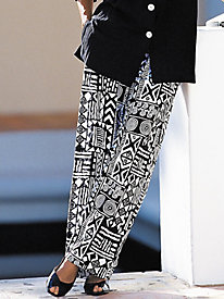 Aztec Print Gauze Pants by Brownstone Studio®