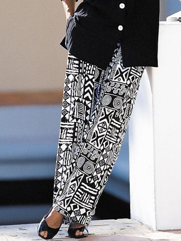 Aztec Print Gauze Pants by Brownstone Studio®