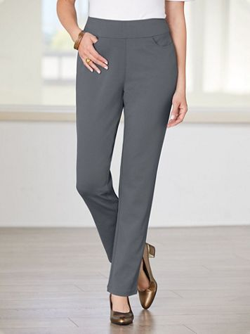 Slimtacular® Ponte Knit Slim-Leg Pull-on Pants - Image 1 of 7