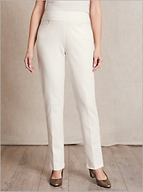 Slimtacular® Ponte Knit Slim-Leg Pull-on Pants