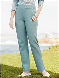 Melange French Terry Pull-On Pants by D&D Lifestyle™
