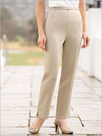 Herringbone Pull-On Ankle Pants - Image 1 of 7
