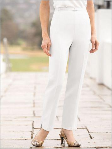 Herringbone Pull-On Ankle Pants - Image 1 of 4