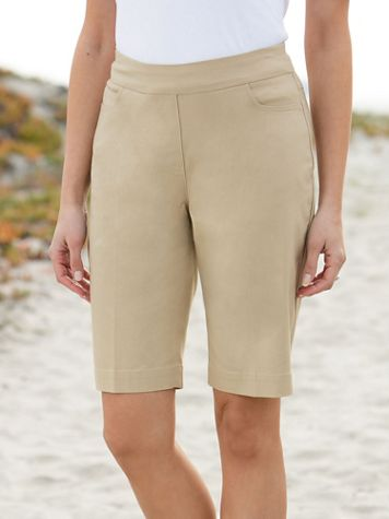 Slimtacular® Pull-On Shorts - Image 1 of 4