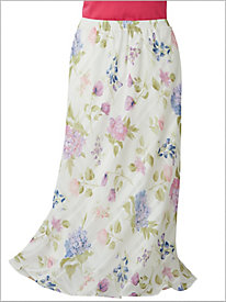 Windowpane Garden Floral Skirt