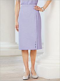 Roman Holiday Diamond Cut-Out Skirt by Alfred Dunner