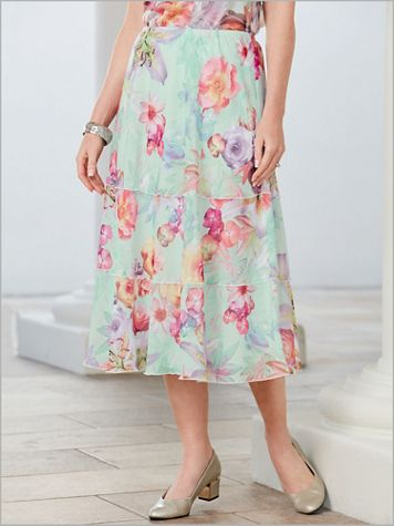 Roman Holiday Botanical Skirt By Alfred Dunner - Image 2 of 2