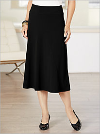 Seamed Crepe Knit Skirt