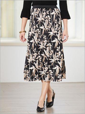 Botanical Bamboo Pleat Skirt - Image 2 of 2