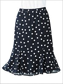Dot Godet Skirt