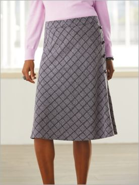 Pattern Play Plaid Knit Skirt
