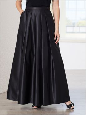 Alex Evenings Floor Length Satin Skirt