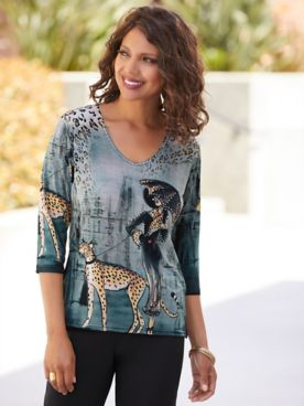 Lady And The Cheetah Print Top