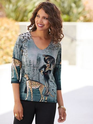 Lady And The Cheetah Print Top - Image 4 of 4
