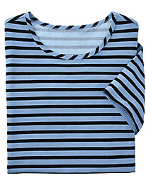 Stripe Knit Tee by Brownstone Studio®