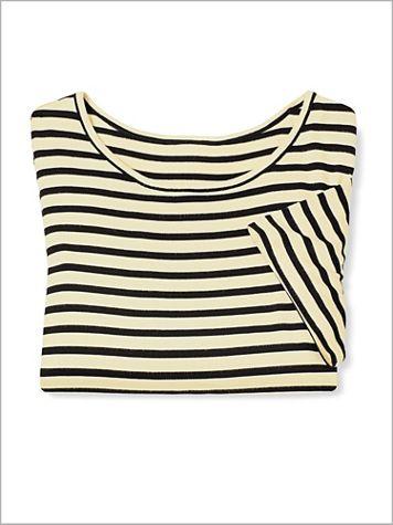 Stripe Knit Tee by Brownstone Studio® - Image 2 of 2