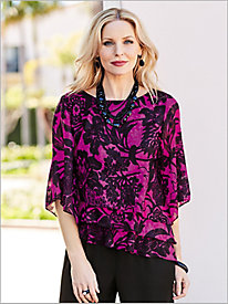 Floral Abstract Print Top by Alex Evenings