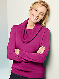 Cotton Cowl Neck Sweater