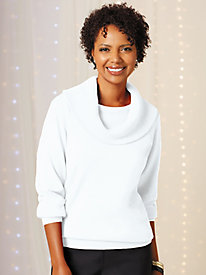 Cotton Cowl Neck Sweater