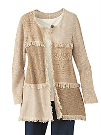 Sierra Madre Fringe Cardigan by Alfred Dunner