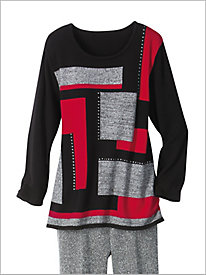 Colorblock Sweater by Alfred Dunner