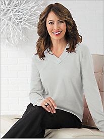 Soft Spun® Crossover V-Neck Sweater