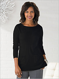 Soft Spun® Boatneck Tunic Sweater