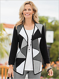 City Life Check Block 2-Fer Sweater by Alfred Dunner