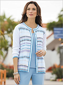 Stripe Delight Sweater Cardigan